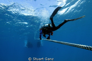 Dive is done, heading back to the boat. by Stuart Ganz 